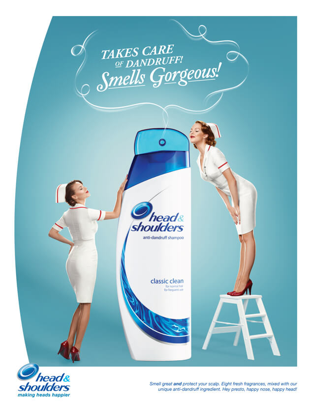 analysis of head and shoulders shampoo advertisement